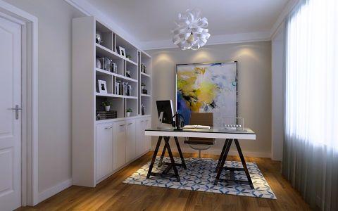 现代书房书桌效果图图片
