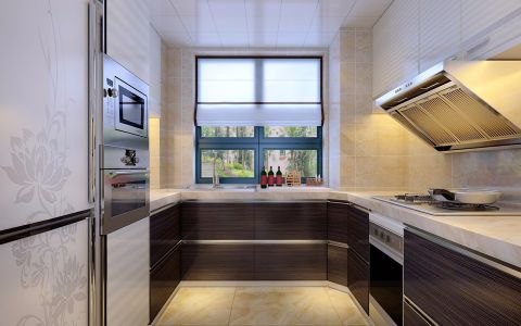 华丽厨房装潢实景图片