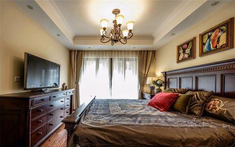 朴素温馨黄色卧室效果图图片