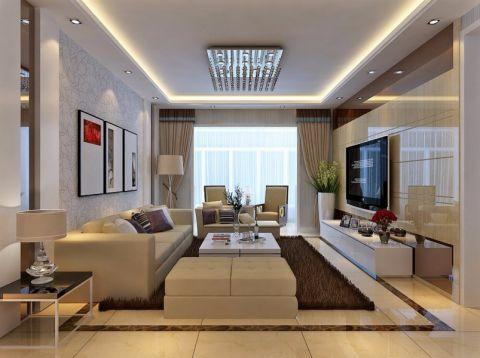 林兴苑165平米三室两厅现代简约装修效果图