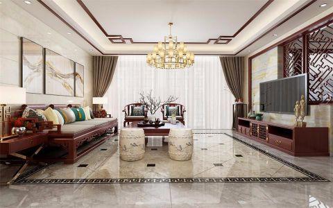 印象泰山128平米中式风格楼房装修效果图
