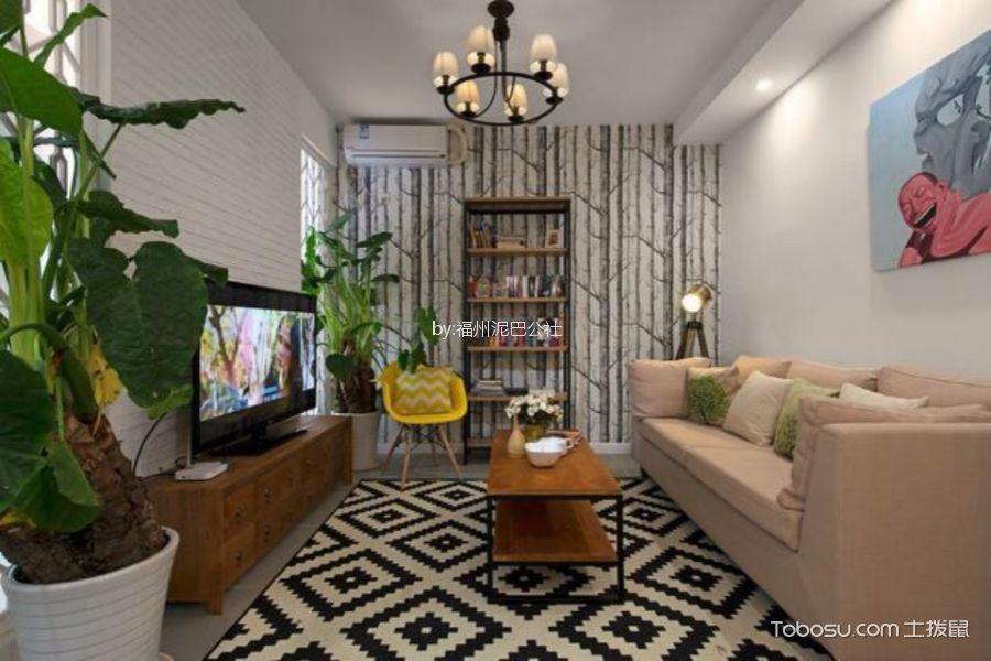 香開新城一室一廳55平現代簡約風格裝修效果圖