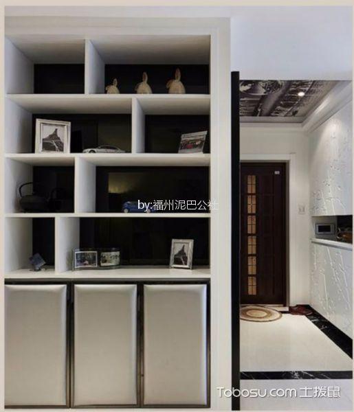 玄关白色鞋柜现代简约风格装修效果图