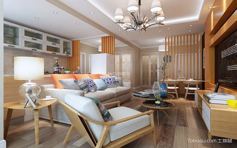 瑶湖豪宅103平两室现代简约风格装修效果图
