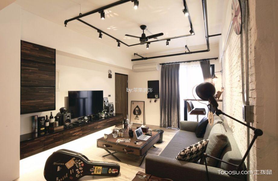 蒂凡尼120平工业混搭风三居室装修效果图