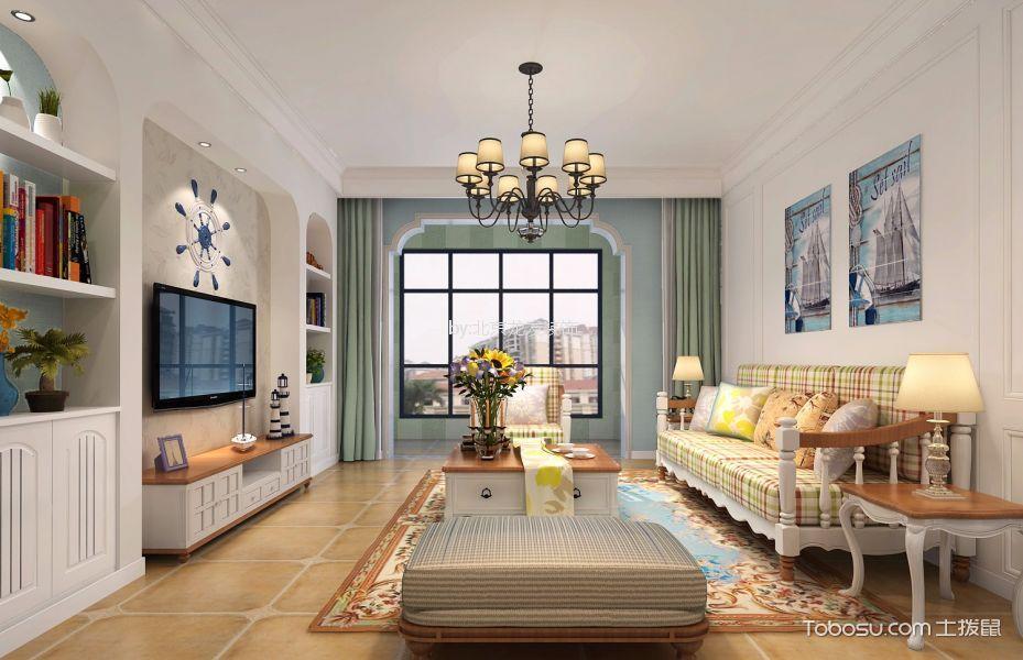 凯旋城120平米三室两厅地中海装修效果图