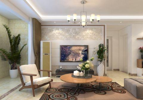 领秀城106平新中式三居室装修效果图