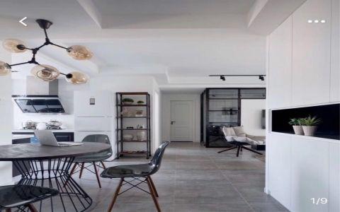 现代风格外形简洁、功能强,强调室内空间形态和物件的单一性、抽象性。