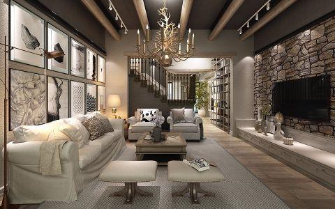 龙湖湘风原著180平美式风四居室装修效果图