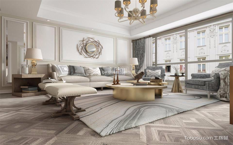 【恒基都市森林】127平米现代风格三居室装修效果图