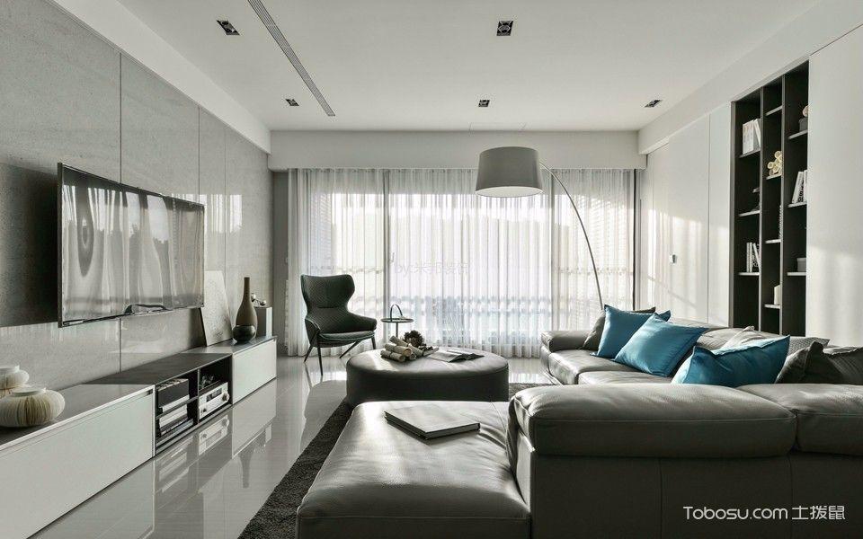 外滩一号138平现代风格三居室装修效果图