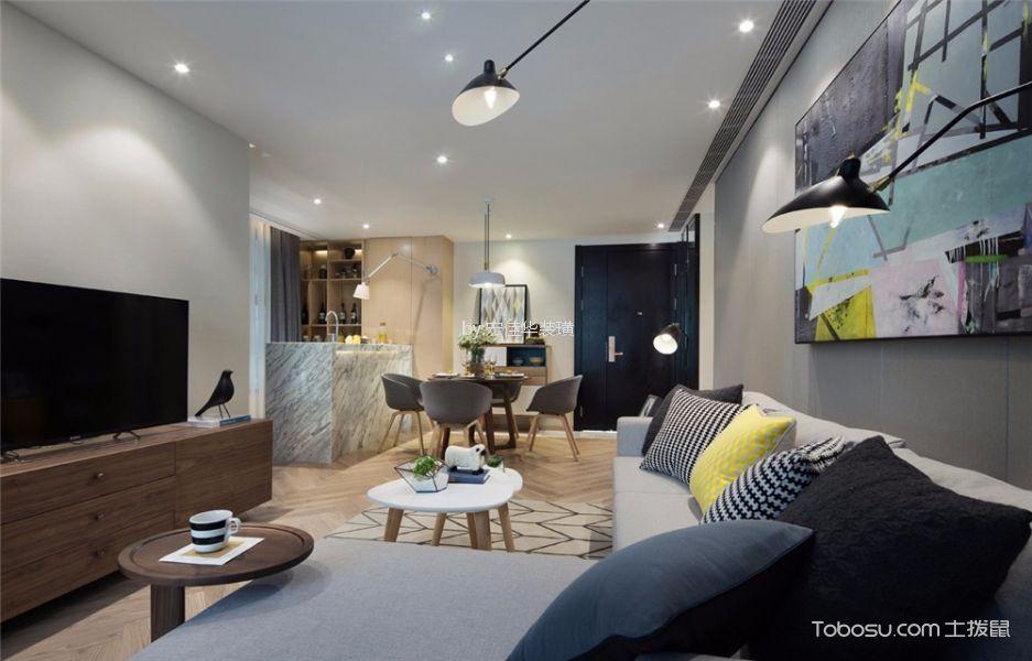 中海凤凰熙岸89平米北欧风格二居室装修效果图