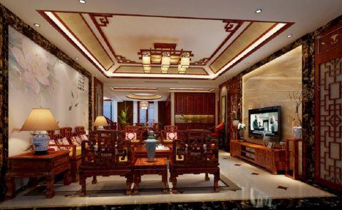 大汉汉园235平米中式风格复式楼装修效果图