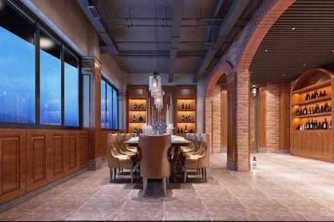 东盟慧谷西餐厅工业简约风格装修效果图