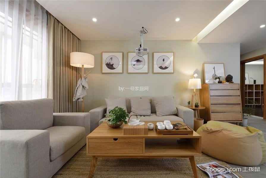 正弘中央公园130平三居室北欧风格装修案例效果图