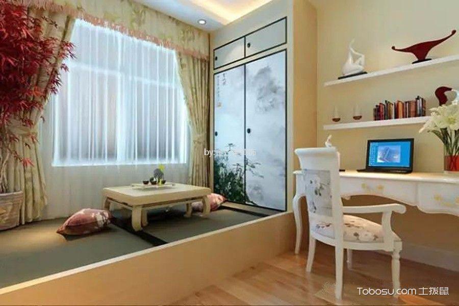 起居室 榻榻米_87平米田园风格二室二厅装修效果图