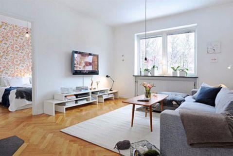 2018欧式90平米效果图 2018欧式三居室装修设计图片