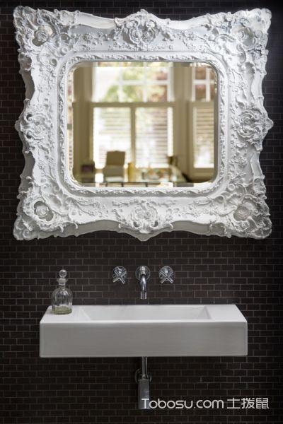 浴室黑色背景墙现代风格装修效果图