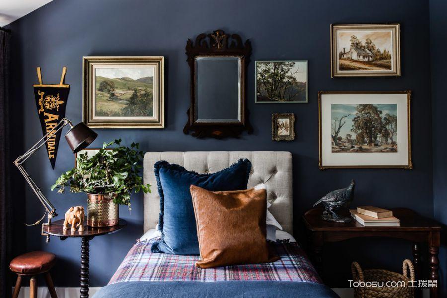 卧室彩色照片墙混搭风格效果图