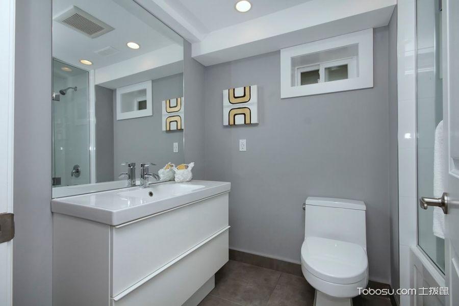 浴室灰色背景墙现代风格效果图