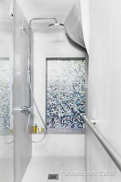 浴室彩色背景墙现代风格装修效果图