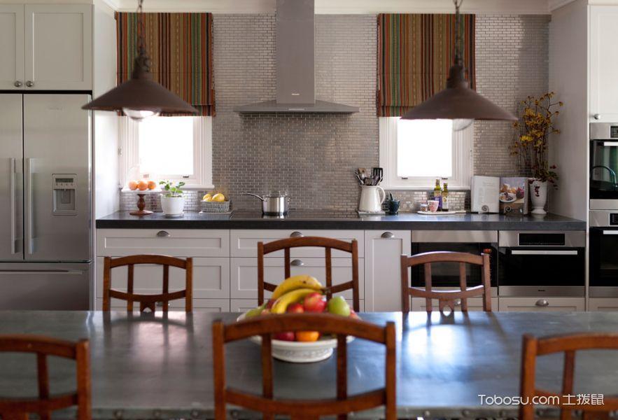 厨房白色隔断混搭风格装饰图片