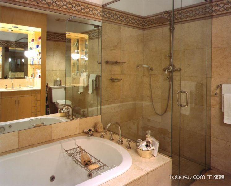 浴室黄色背景墙现代风格效果图