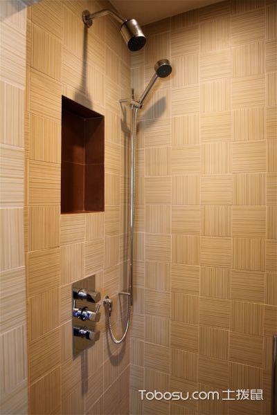 浴室米色背景墙现代风格装修效果图