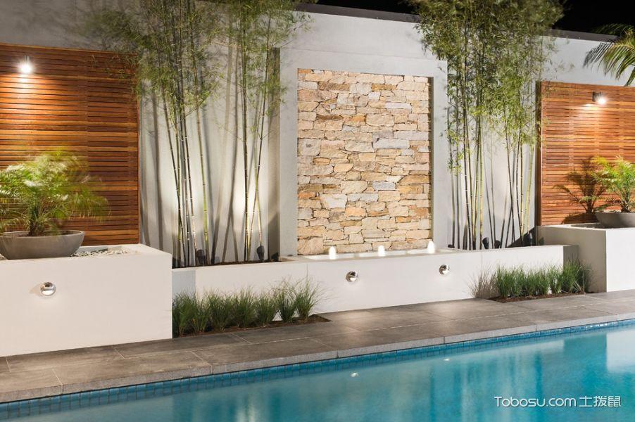 花园黄色背景墙现代风格装饰设计图片