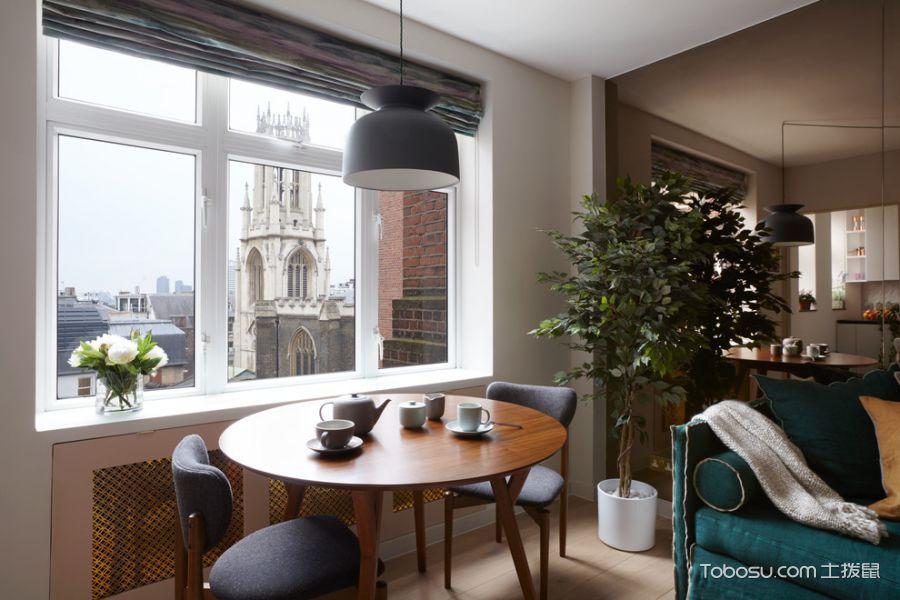 客厅白色窗台混搭风格装潢设计图片