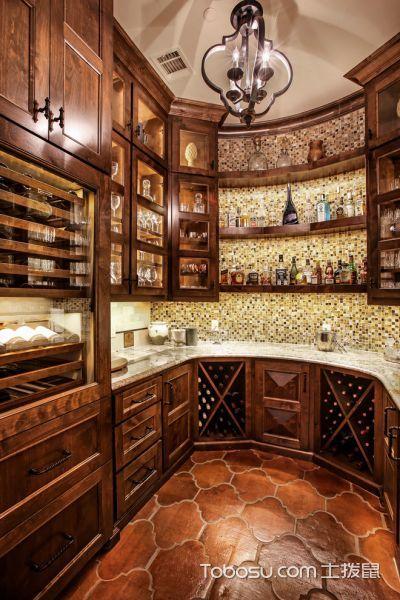 地中海地下室酒窖室内装饰