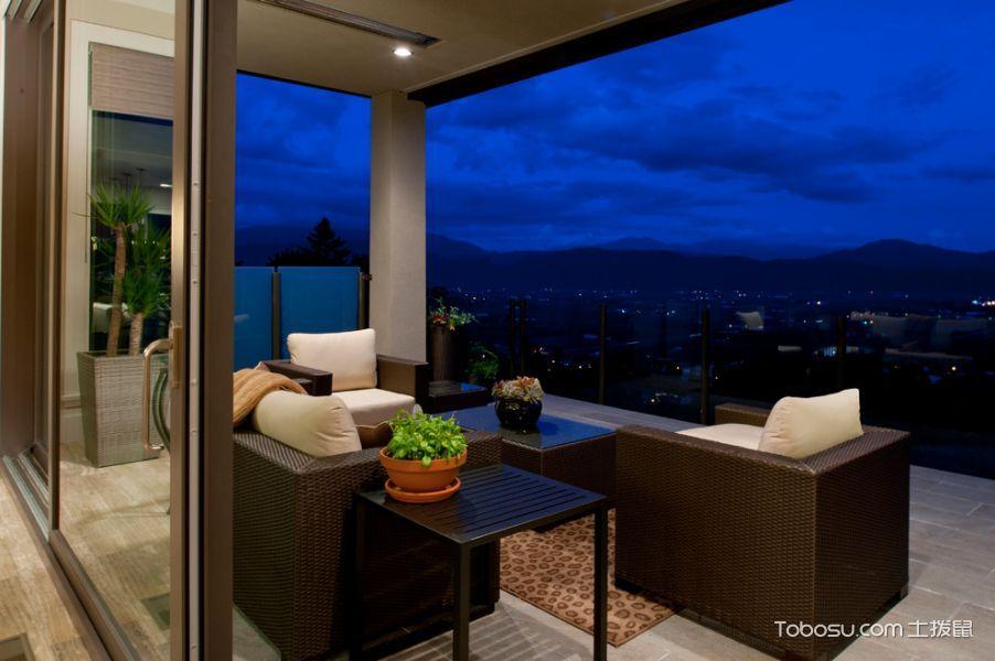 阳台灰色推拉门现代风格效果图