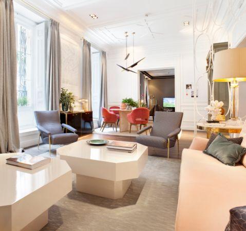 客厅现代风格效果图大全2017图片_土拨鼠古朴沉稳客厅现代风格装修设计效果图欣赏