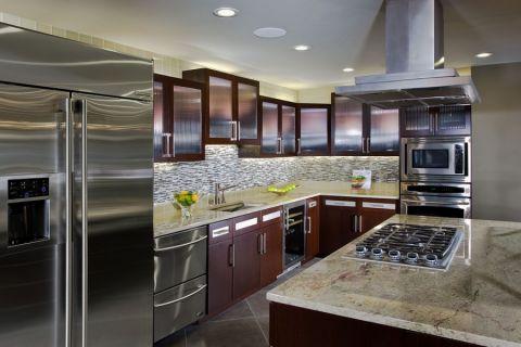 厨房现代风格效果图大全2017图片_土拨鼠美好个性厨房现代风格装修设计效果图欣赏
