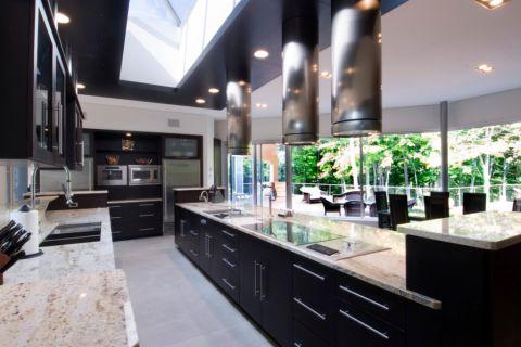 厨房现代风格效果图大全2017图片_土拨鼠精致休闲厨房现代风格装修设计效果图欣赏