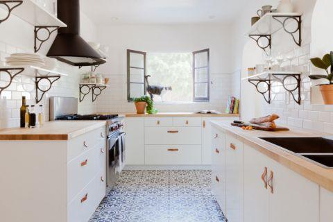 厨房北欧风格效果图大全2017图片_土拨鼠干净写意厨房北欧风格装修设计效果图欣赏