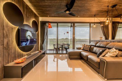 客厅混搭风格效果图大全2017图片_土拨鼠简洁自然客厅混搭风格装修设计效果图欣赏