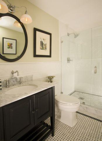 浴室美式风格效果图大全2017图片_土拨鼠简洁迷人浴室美式风格装修设计效果图欣赏
