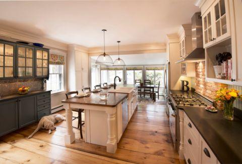 现代黄色美式厨房装修效果图