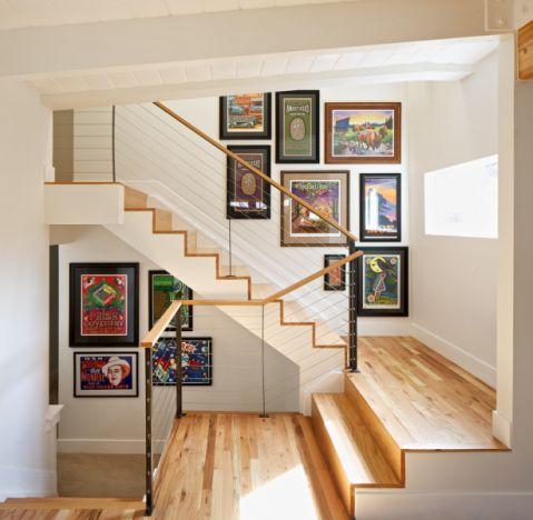 楼梯现代风格效果图大全2017图片_土拨鼠个性创意楼梯现代风格装修设计效果图欣赏