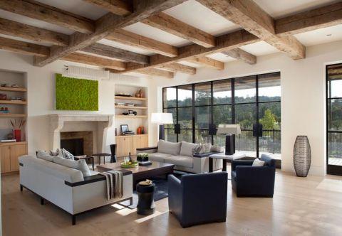 客厅地中海风格效果图大全2017图片_土拨鼠极致摩登客厅地中海风格装修设计效果图欣赏