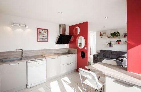 完美白色美式厨房装修效果图