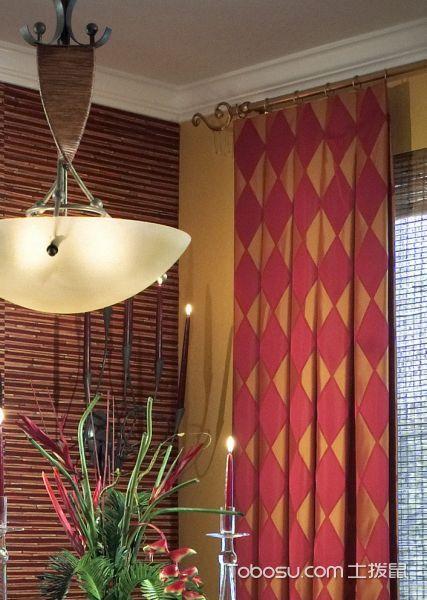 餐厅米色灯具地中海风格装潢效果图