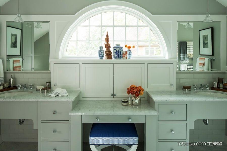 浴室彩色细节混搭风格装饰设计图片