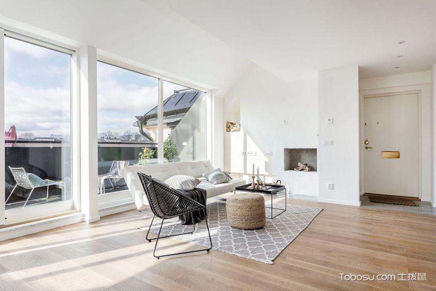 客厅北欧风格效果图大全2017图片_土拨鼠浪漫摩登客厅北欧风格装修设计效果图欣赏