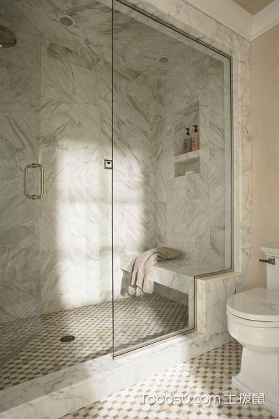 浴室白色背景墙美式风格装饰图片