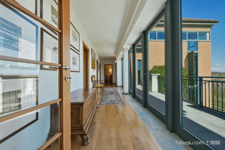 阳台白色走廊现代风格装饰设计图片