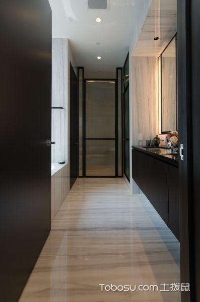 卫生间米色地板砖现代风格装潢图片