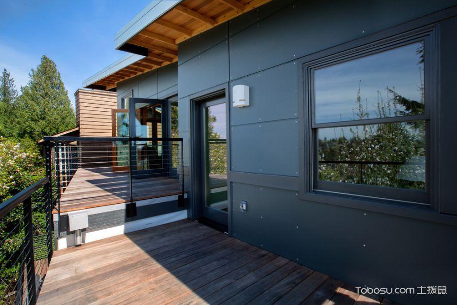 阳台咖啡色走廊现代风格装饰设计图片