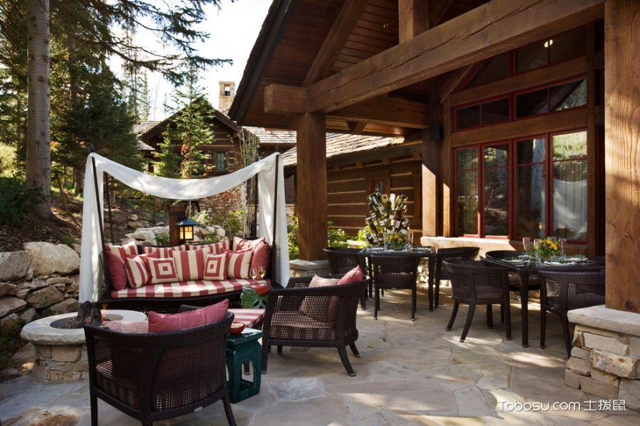 阳台白色地板砖美式风格装饰效果图